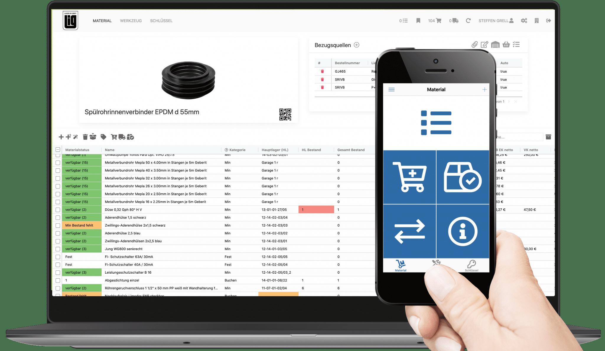 Die Perfekte Lagerverwaltung-App für Smartphone, Tablet und Web