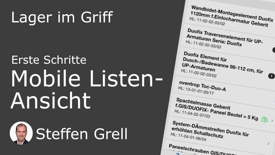Mobile Listen-Ansicht