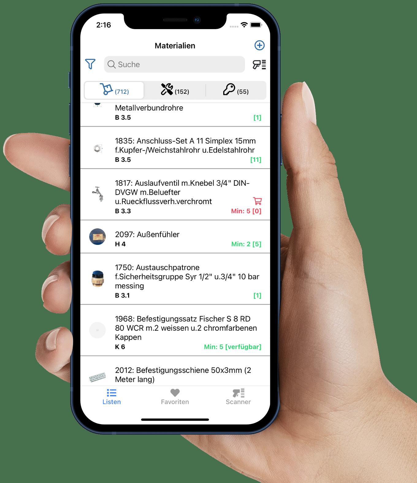 App Lager im Griff als technische Lösung für Ordnung im Lager
